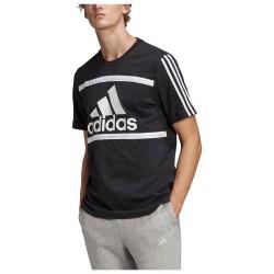 Adidas Essentials Logo Colorblock Tee GK8912 Black